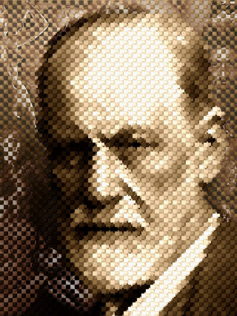 """Portrait of Sigmund Freud"" by Peter Mahler."